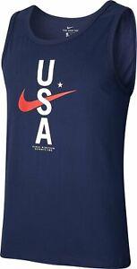 Autentico-Nike-USA-Rwb-Dri-Fit-Navy-Canottiera-CK0457-451