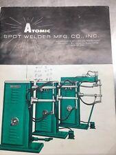 Atomic Spot Welder Manuals 3 Books Parts Diagrams Operating Manuals Vintage