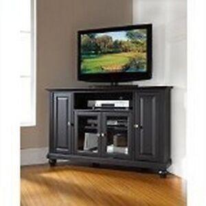 Crosley FurnitureCrosley Furniture Cambridge 48-Inch Corner TV Stand, BlackNew