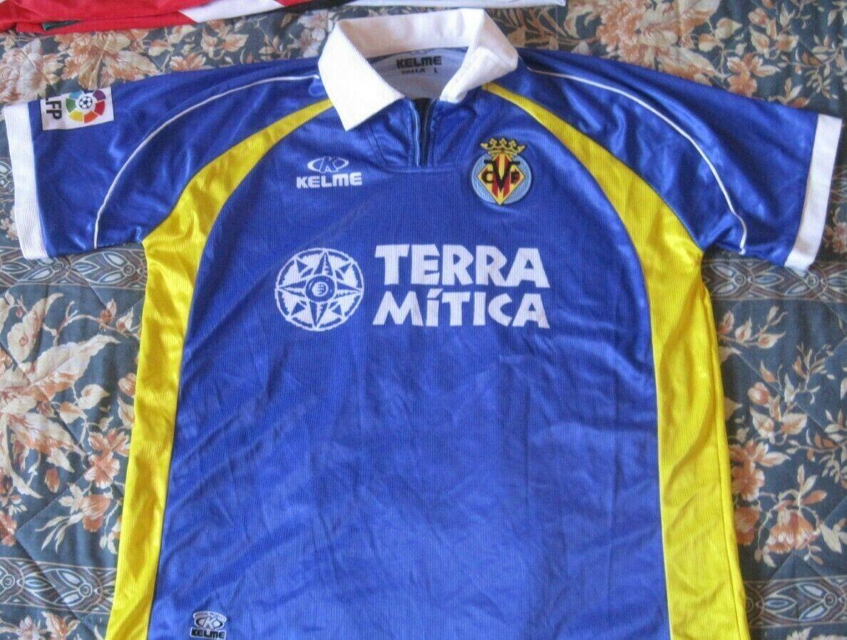 Camiseta Shirt Maglia Trikot VILLAREAL Kelme Away Talla L Season 1999 number 9