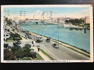 Vintage-Postcard-gt-1927-gt-Wesley-Lake-gt-Ocean-Grove-gt-Asbury-Park-gt-New-Jersey