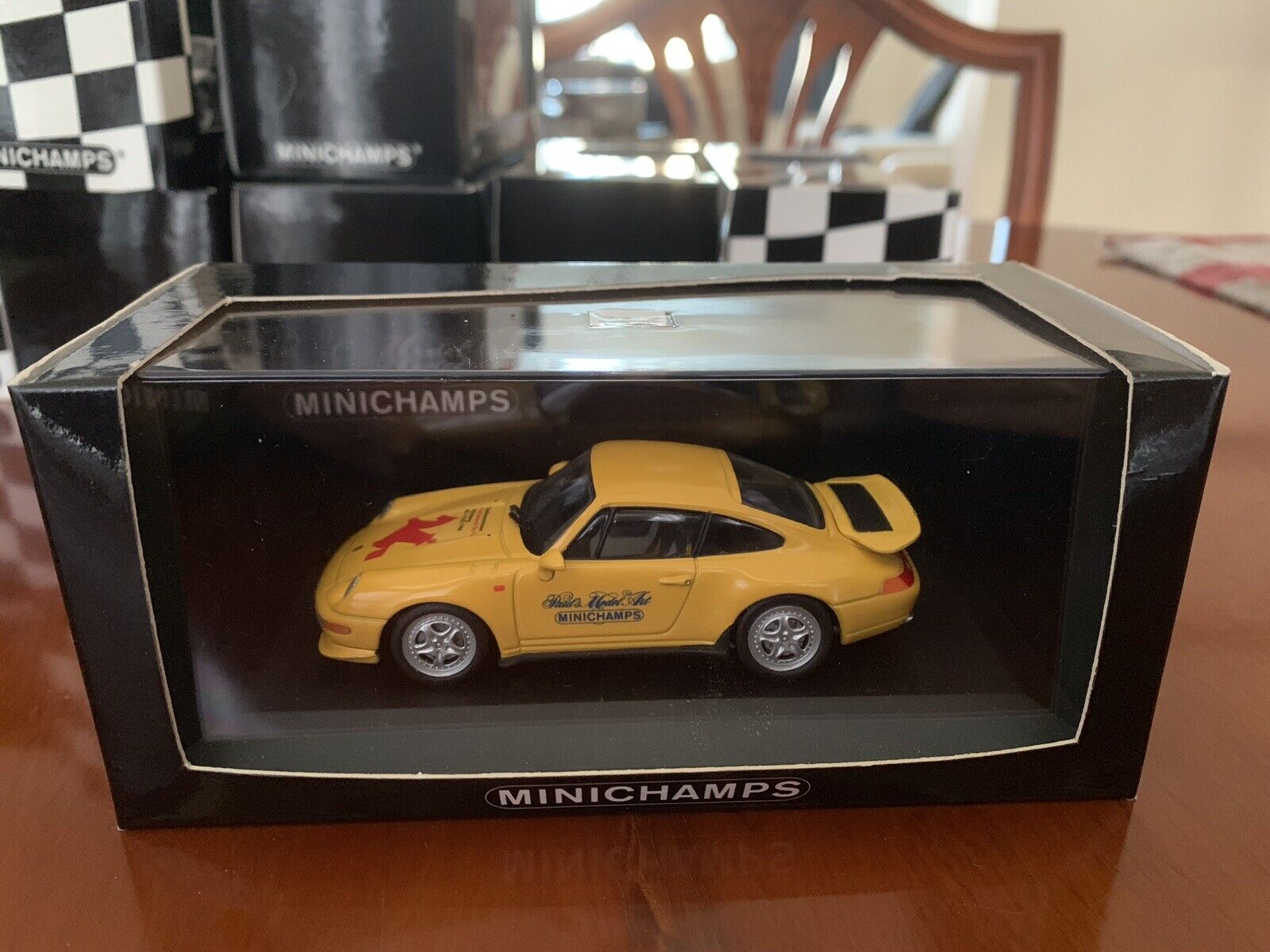 Rare Minichamps Porsche 911 GT3 RS (993). Nurnburg Toy Fair 1998. 1 43 Diecast.