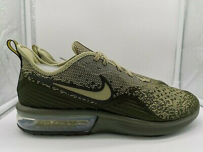 Nike Air Max Sequent 4 UK 8.5 Medium Olive Green AO4485 300 | eBay