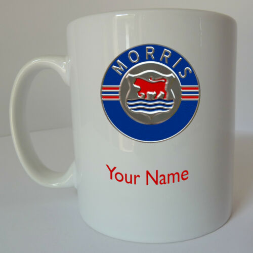 Personalised Morris Logo Mug Cup Gift Present Birthday Christmas Fathers Day