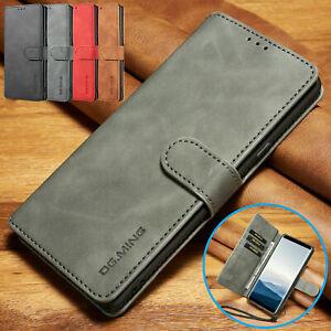 COVER per Xiaomi Redmi Note 8 Pro CUSTODIA PORTAFOGLIO PELLE Nero Leather Case