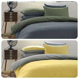 Racing-Green-COLBURN-100-Brushed-Cotton-Plain-Dye-Duvet-Cover-Set