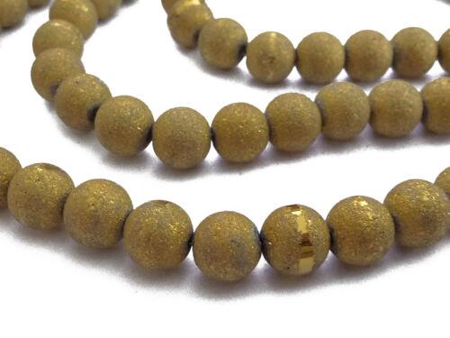 7,8mm Farbe messing antik Perlen nenad-design ca.70 Stardust Glasperlen ca