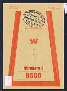 81457) Vorbindezettel Bahnpost Munich-nuremberg Train 02464 > Nuremberg 1979-afficher Le Titre D'origine