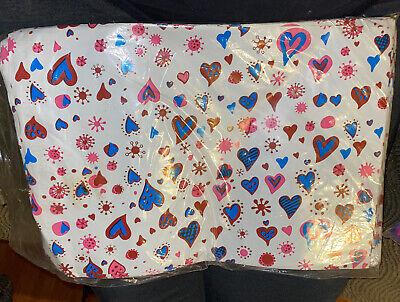 200 Bags 100 10x13 Blue Hearts,100 9x12 Blue Designer Poly Mailers Envelopes Bag