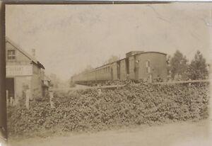 Treno Chemin Da Ferro Fotografia Originale Vintage Citrato Ca 1900 ND69