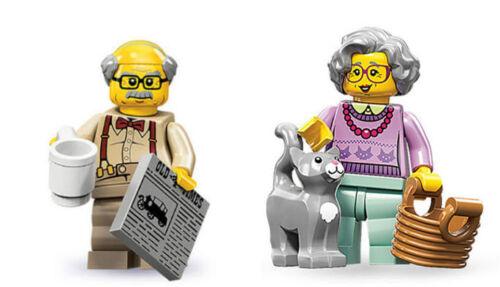 New Series 10 Grandpa AND Series 11 Grandma LEGO Minifigures