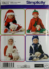 Child's and Dog's Accessories in 3 Sizes Pattern  Simplicity 0637   NIP