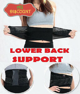Lumbar-Lower-Back-Support-Belt-Brace-Strap-Pain-Relief-Posture-Waist-Trimmer