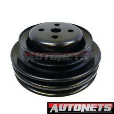 Water Pump Pulley V Belt 3 Groove Steel Chrome Ford Sb 289 302 Ca Smog Black