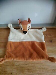 Doudou plat biche faon bambi marron crème Disney