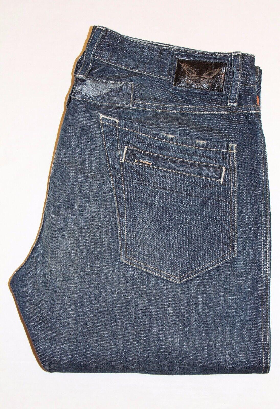 New Men's ROBIN'S JEAN sz 42 Style  D5475 MOTARD - Slim Straight Biker Jeans