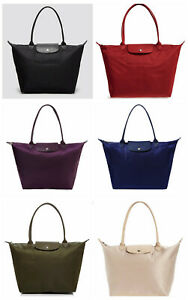 Details about NWT Longchamp Le Pliage NEO Large Tote NAVY BLACK GOLD SILVER  GREY BROWN RED