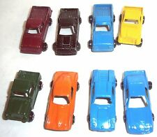 Lot of Eight Tootsietoy Midget Cars and Trucks - VGUC