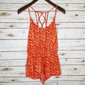 Dolce-Vita-Women-039-s-Size-XS-Orange-Sleeveless-Romper-NWT