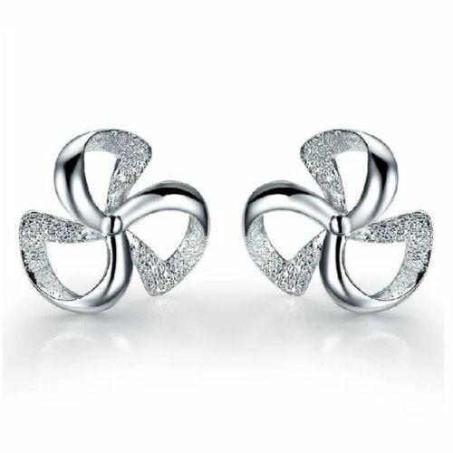 Pendientes para mujer chapado en plata Redondo Tachas de cristal Joyería de Moda Ear Stud 14