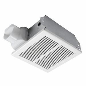 Ceiling Or Wall Bathroom Fan 50 Cfm 3 Duct Dia 120vac Ebay