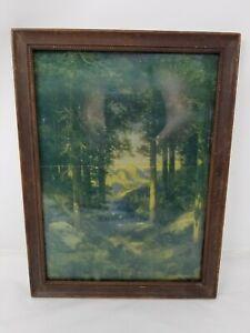 Vintage-wooden-picture-frame-ornate-wood-wall-decor-12-034-x-9-034-unique-detail