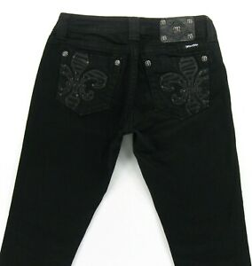 Miss-Me-SKINNY-Embroidered-Embellished-Bling-Pockets-size-29-inseam-30