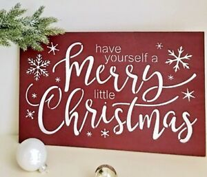 Have Yourself A Merry Little Christmas Sign.Details About Have Yourself A Merry Little Christmas Merry Little Christmas Sign Snowflakes
