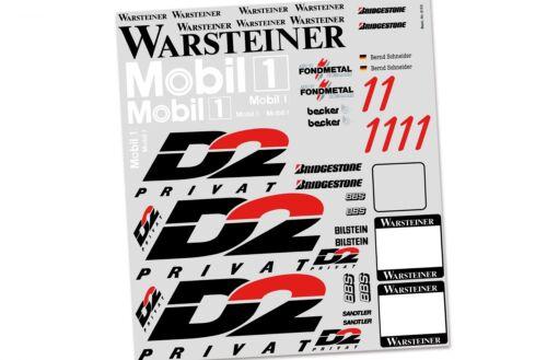 Set 9155 FG Team-Dekorbogen für Mercedes CLK-GTR Team Decals