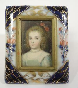 Details about Two Miniature Vintage Frames * Bright Cut Brass Easel & Imari  Porcelain Frames