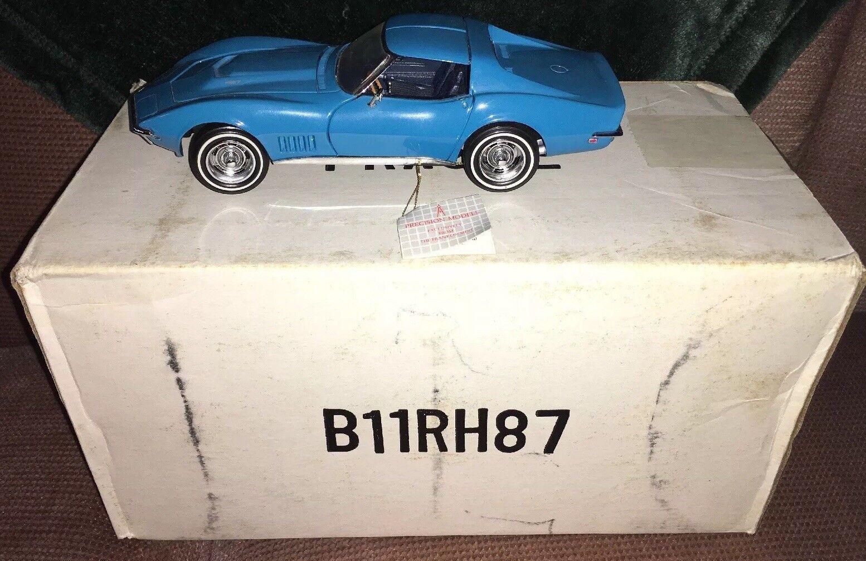 Franklin mint 1968 corvette t-top blau mit box - -