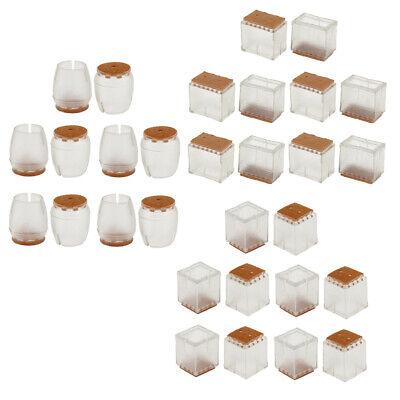 Tappi in silicone per gambe della sedia piedini per gambe del tavolo 32 pezzi con cuscinetti in feltro antiscivolo facile da spostare i mobili in modo,quadrati