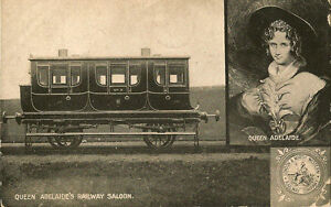 RAILWAY-OFFICIAL-Queen-Adelaide-039-s-Railway-Saloon-L-amp-N-W-RLY