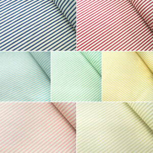 100-Cotton-Poplin-Fabric-Rose-amp-Hubble-Ticking-Stripes-Fashion-Dress-Material