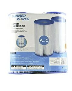 Summer Waves® A//C Filter Cartridge 2 Pack Free Shipping Brand New