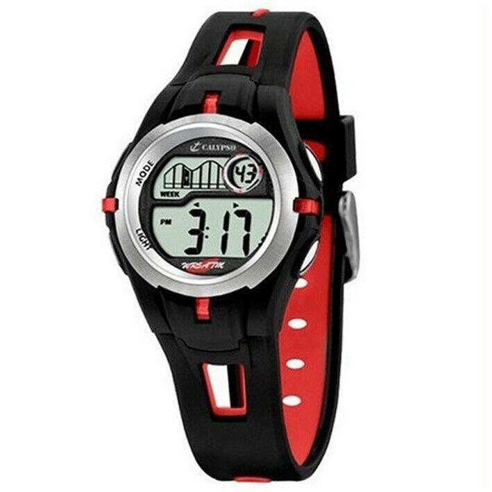 Calypso para niño reloj digital K5506/1 rojo y negro diámetro 32 mm