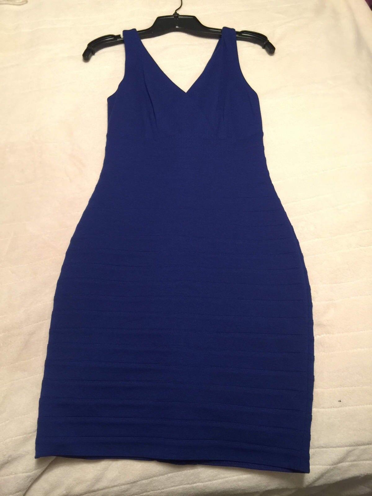 NWT EXPRESS EXPRESS EXPRESS Women's Royal bluee Bodycon Dress, Size XS 36440e