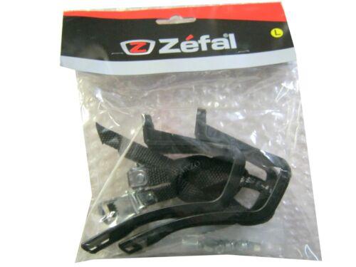 S//M  And L//XL Zefal Christophe 43-515 Mountain Bike Toe Clips /& Straps Set