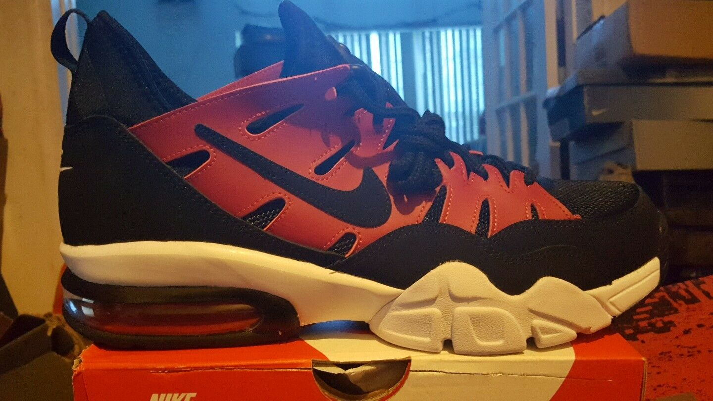 Nike air trainer max 94 low bnib red blk white size 10  880995 600