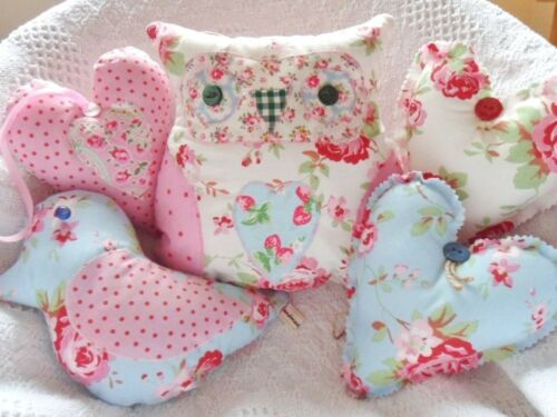 Cath Kidston Fabric Craft Kit Owl Bird Heart Patchwork Sewing Kit Sewintocrafts!