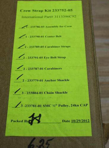 US Army Crew Strap Kit Zurrgurt Set Karabiner Laufrollen 2,4t Gurte uvm.16 Teile