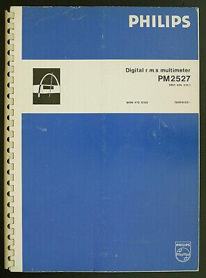 Aus Dem Ausland Importiert Philips Pm2527 Original Digital R.m.s Multimeter Service-manual/diagram/parts Erfrischung