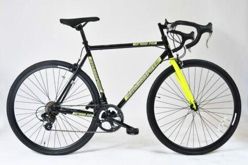 Muddyfox Road 14 Touring Bike 700c in Black and Yellow 56cm frame