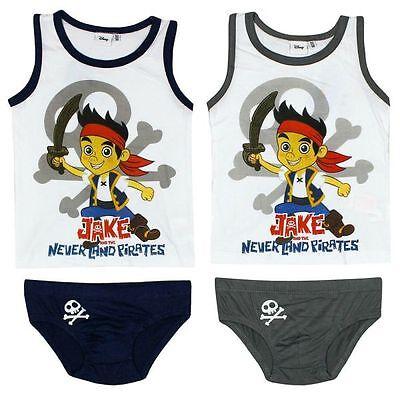Disney Jake & Die Nimmerland Piraten Unterwäsche Set Slip + Hemd Gr. 92 - 122