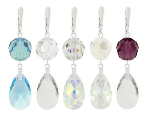 Sterling Silver Earrings made with 6106 Pear 22mm Swarovski® Crystals
