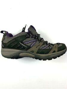 MERRELL-Vibram-Womens-Hiking-Shoes-Size-6-5-M-Black-Grey-Purple