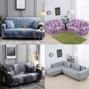 Details About 1 2 3 4 Seater Universal Stretch Sofa Covers Protector Couch Cover Slipcover New
