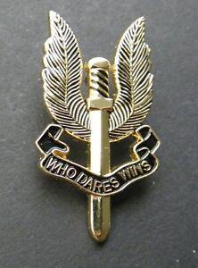 Metal Enamel Pin Badge Brooch SAS Special Air Services Who Dares Wins Emblem