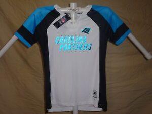 CAROLINA PANTHERS NFL Fan Fashion JERSEY Shirt by MAJESTIC Womens ... 9a4ec02738