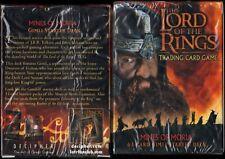 LORD OF THE RINGS TCG MINES OF MORIA SEALED GIMLI /& GANDALF STARTER DECKS